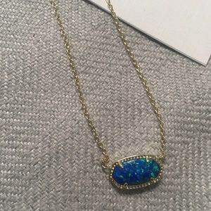 Kendra Scott royal blue necklace and earrings